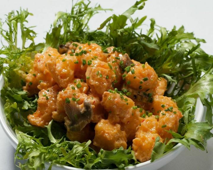 Rock Shrimp - MesaMar Seafood Restaurant Coral Gables: lobster stone crab claws shrimp paella fish